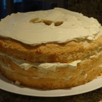 Angel Food Cake with Whipped Orange Filling